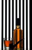 butelki whisky fotografia stock