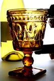 butelki wina okulary stanowisko Obrazy Royalty Free