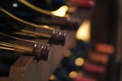 Butelki wina zakończenie up Zdjęcie Royalty Free