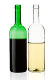 butelki wino Zdjęcia Stock