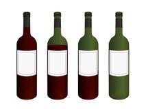 butelki wino obrazy stock