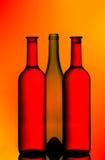 butelki wino trzy Zdjęcie Royalty Free