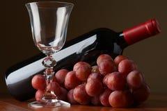 butelki winogron wino Obraz Royalty Free