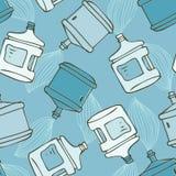 butelki woda deseniowa bezszwowa Zdjęcie Stock