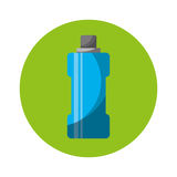 Butelki wody gym odosobniona ikona Fotografia Royalty Free