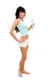 butelki wody kobieta Obrazy Royalty Free