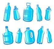 Butelki wody set wektor Fotografia Stock