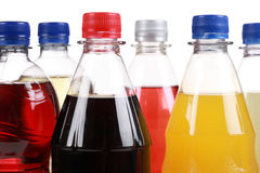 Butelki z miękkimi napojami Zdjęcia Stock