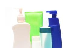 Butelki zdrowie i piękna produkty Zdjęcie Stock