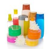 Butelki zdrowie i piękna produkty Zdjęcia Royalty Free