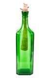 butelki zieleni list Fotografia Royalty Free