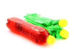 butelki zielone czerwony Obraz Royalty Free