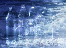 butelki zwierzę domowe Fotografia Royalty Free