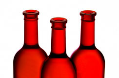 butelkuje czerwone wino Zdjęcie Royalty Free