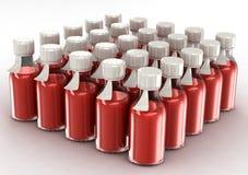 butelkuje przejrzystej szczepionki Zdjęcia Royalty Free