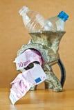 butelkuje przetwarzającego mincer klingeryt Fotografia Royalty Free
