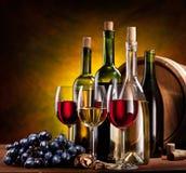 butelkuje spokojny życia wino Obraz Stock