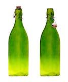 butelkuje szklani pokrywkowi starzy dwa Obrazy Stock