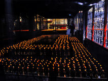 Butter lamps at monastery, Gangtok, Sikkim, India Royalty Free Stock Image