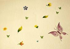 buterflies花 免版税图库摄影
