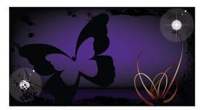 buterfly背景grunge 免版税图库摄影