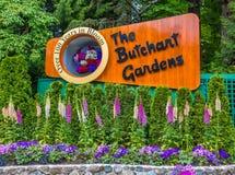 The Buthcart Gardens Sign stock photo