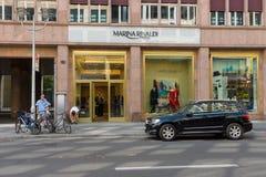Butike Marina Rinaldi auf Friedrichstrasse Lizenzfreies Stockbild