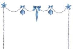 Butin Argent-bleu de Noël Photo stock