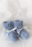 Butins de bébé bleu Image stock