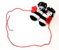 Butins de bébé de crochet Photos libres de droits