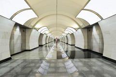 Butirskaya station av Moskvagångtunnelen Royaltyfri Fotografi