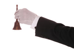 Butler with Bell Stock Images