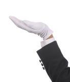 Butler leeren Hand Lizenzfreie Stockbilder