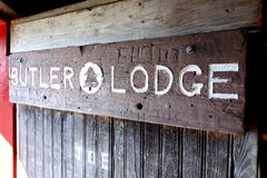 Butler Lodge Shelter on Mount Mansfield royalty free stock photography