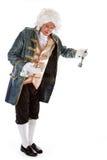 Butler met een klok royalty-vrije stock fotografie