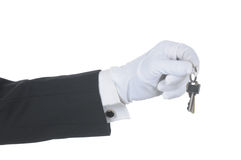 Butler met Sleutels royalty-vrije stock foto