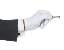 Butler with Old Key Stock Image