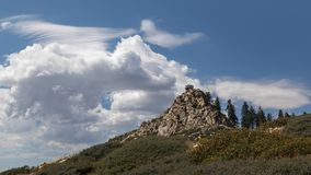 Butler Peak Lookout. Butler Peak Fire Lookout - Big Bear Lake in the Southern California Mountains Stock Photos