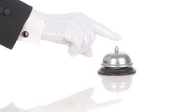 Butler Ringing Service Bell Royalty Free Stock Photos
