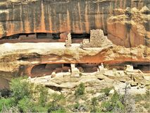 Butler Wash Anasazi Ruins. The Butler Wash Ruins is a widely visited Anasazi site southwest of Blanding, Utah royalty free stock images