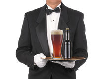 Free Butler With Beer On Tray Royalty Free Stock Photo - 13853375
