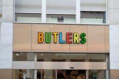 Butlerspeicher Signage Lizenzfreies Stockfoto