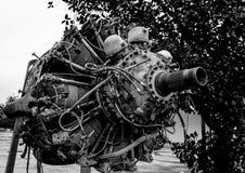 9 butli Promieniowy silnik stary samolot Obraz Royalty Free