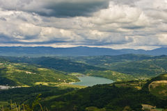 Butoniga lake and the clouds Royalty Free Stock Image