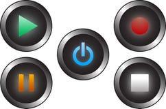 Butons audio Foto de archivo