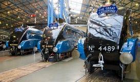 Butor étoilé, Mallard et Dominium de Canada au musée ferroviaire de York Photos stock