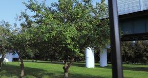 Κήπος φρούτων κοντά στο μετρό απόθεμα βίντεο