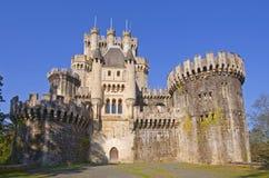 Butrón Schloss ist ein mittelalterliches Gebäude, Euskadi Stockfotos