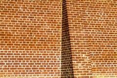 Butressed plain brick wall Royalty Free Stock Image