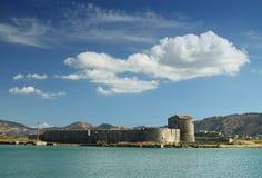 Butrint的,南阿尔巴尼亚三角堡垒 免版税库存图片